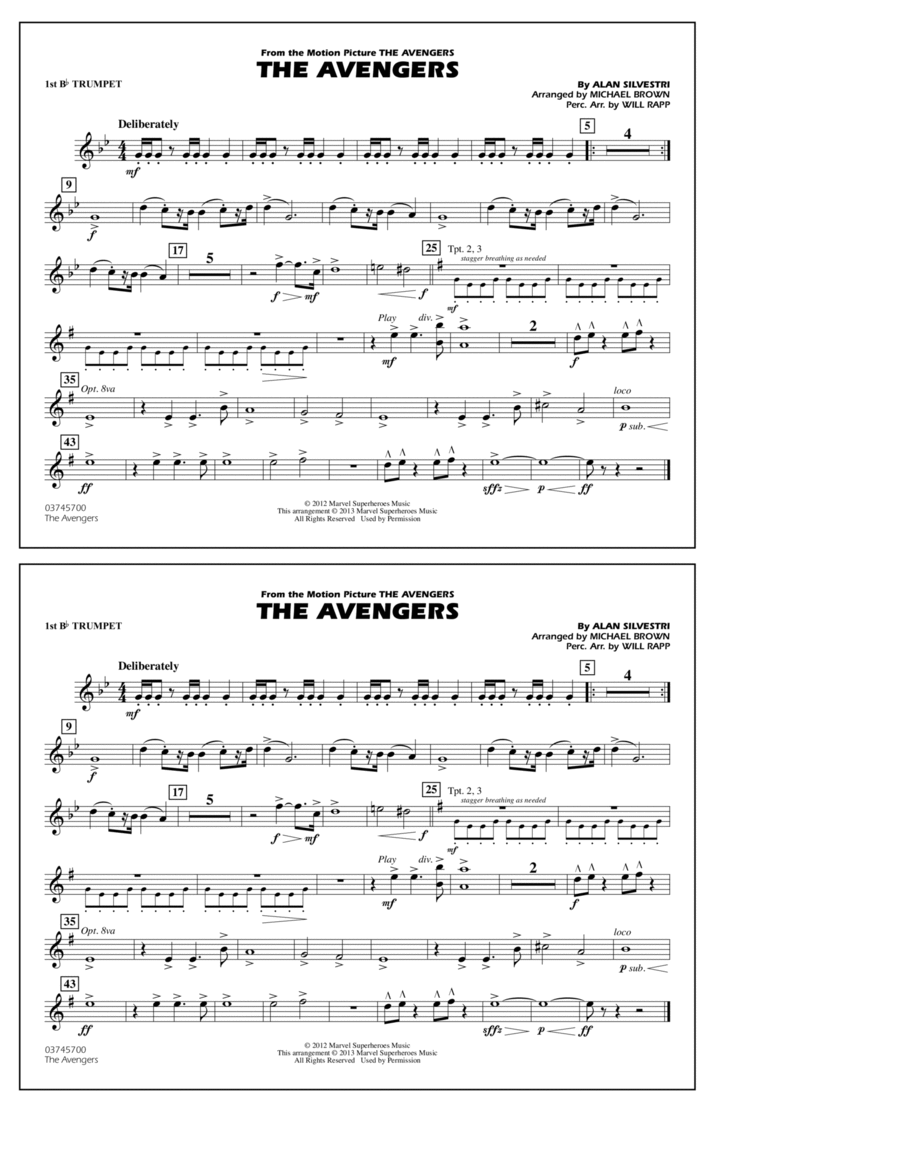 The Avengers - 1st Bb Trumpet