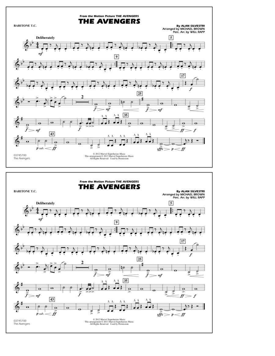 The Avengers - Baritone T.C.