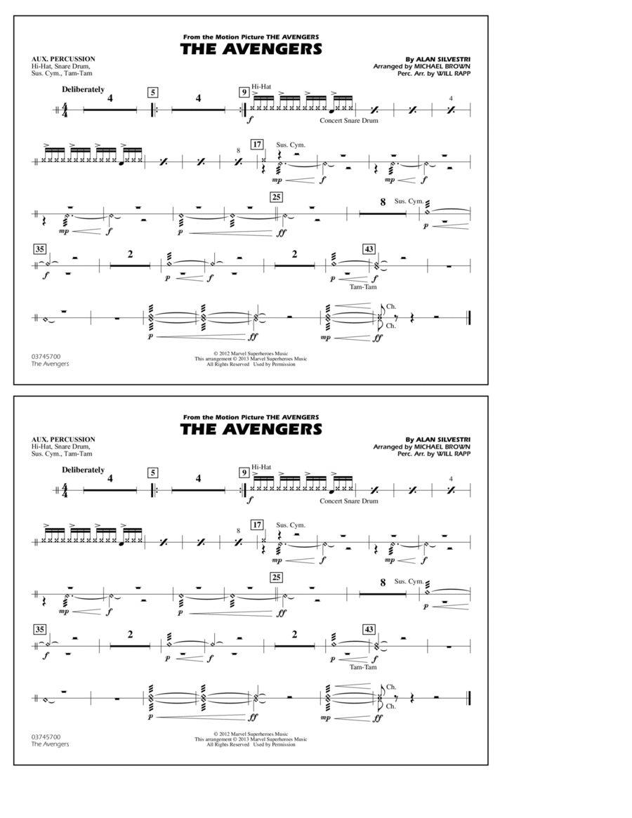 The Avengers - Aux Percussion
