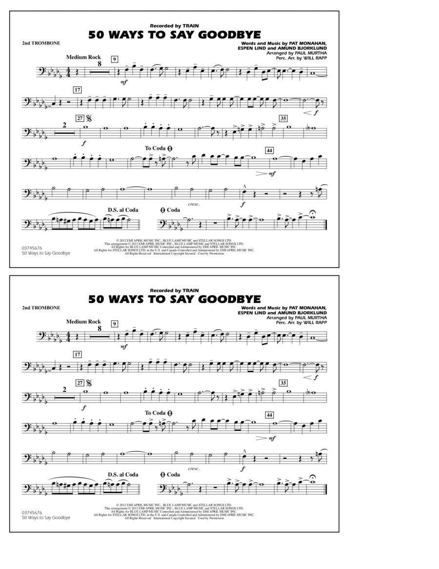 50 Ways To Say Goodbye - 2nd Trombone