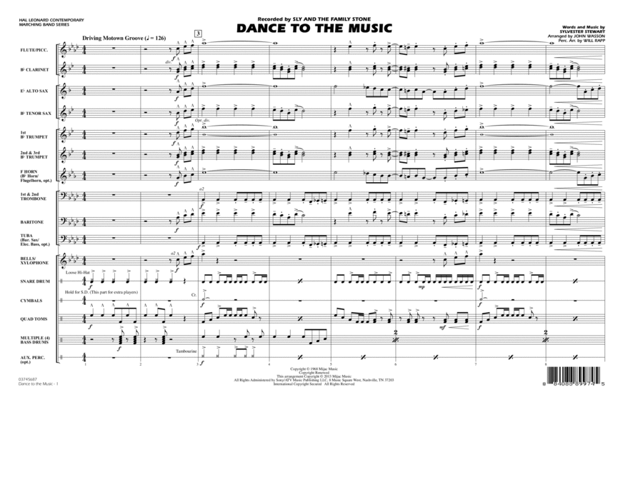 Dance To The Music - Conductor Score (Full Score)