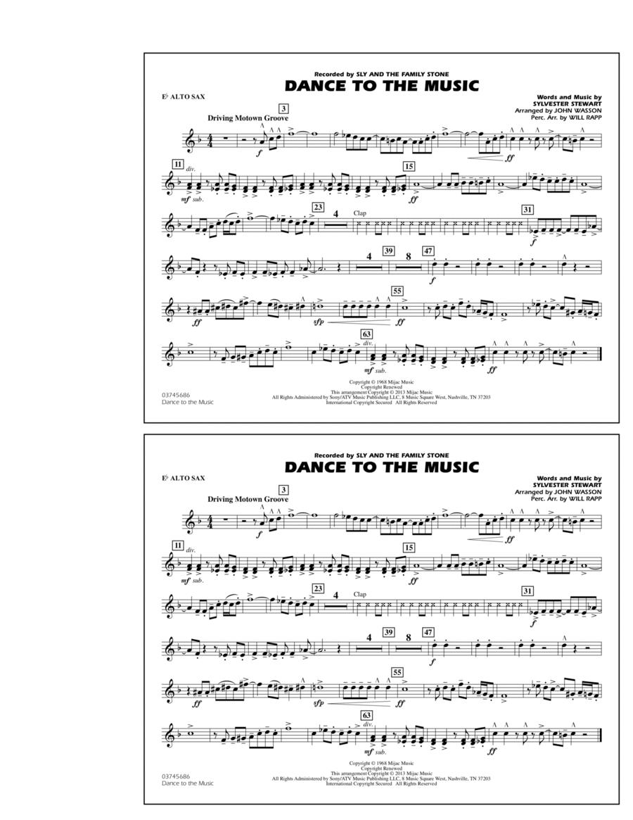 Dance To The Music - Eb Alto Sax
