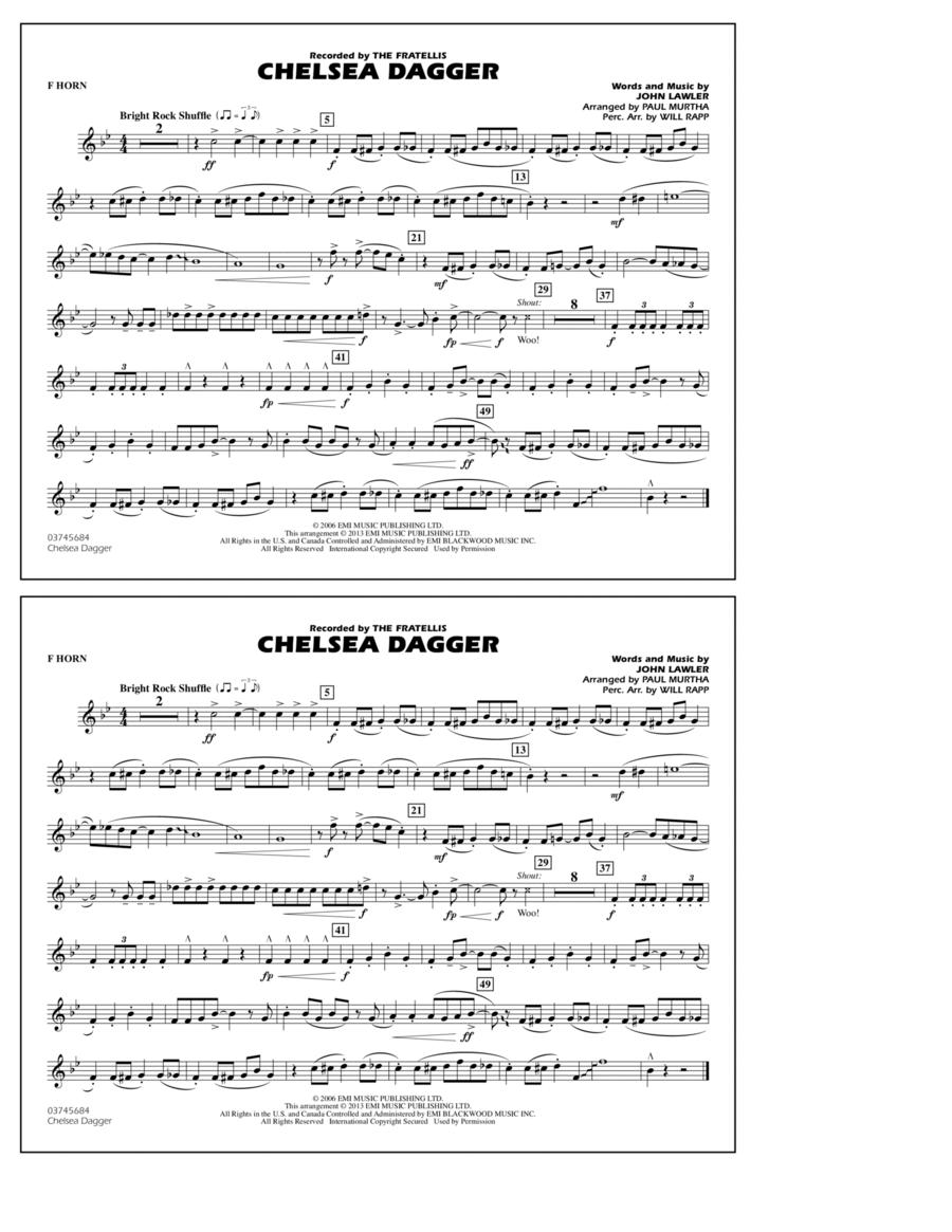 Chelsea Dagger - F Horn