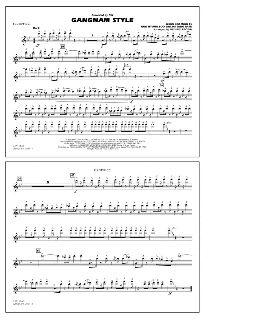 Gangnam Style - Flute/Piccolo