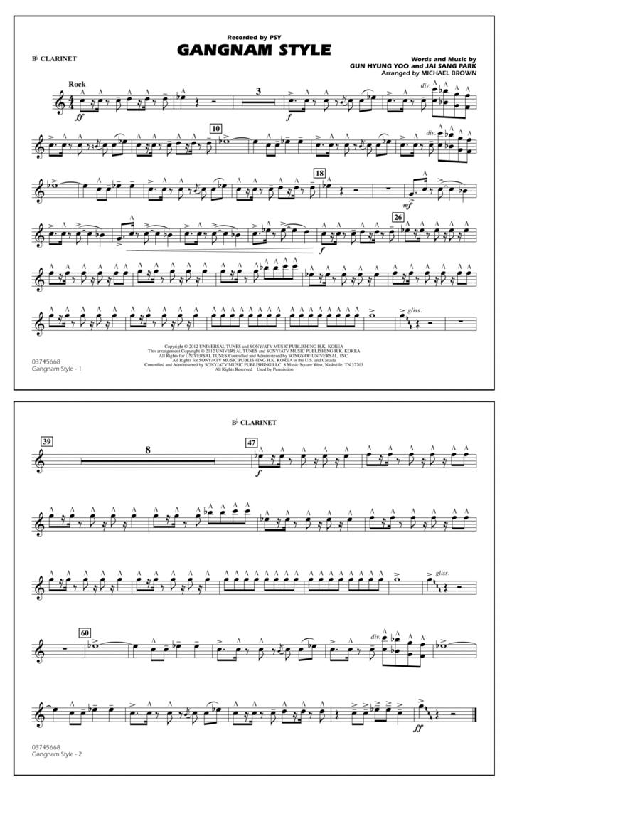Gangnam Style - Bb Clarinet