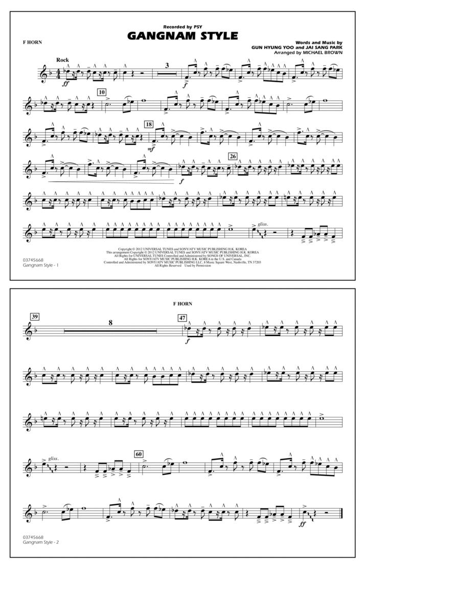 Gangnam Style - F Horn