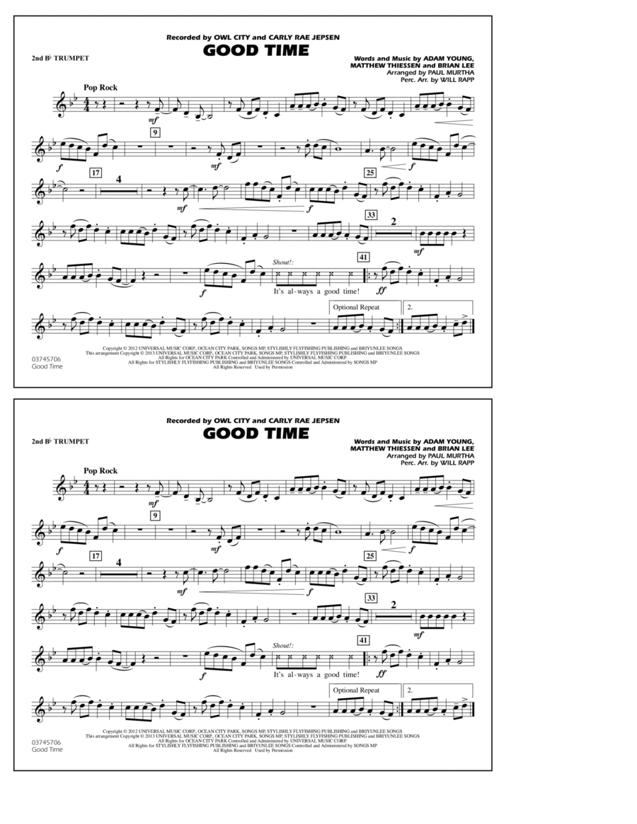 Good Time - 2nd Bb Trumpet