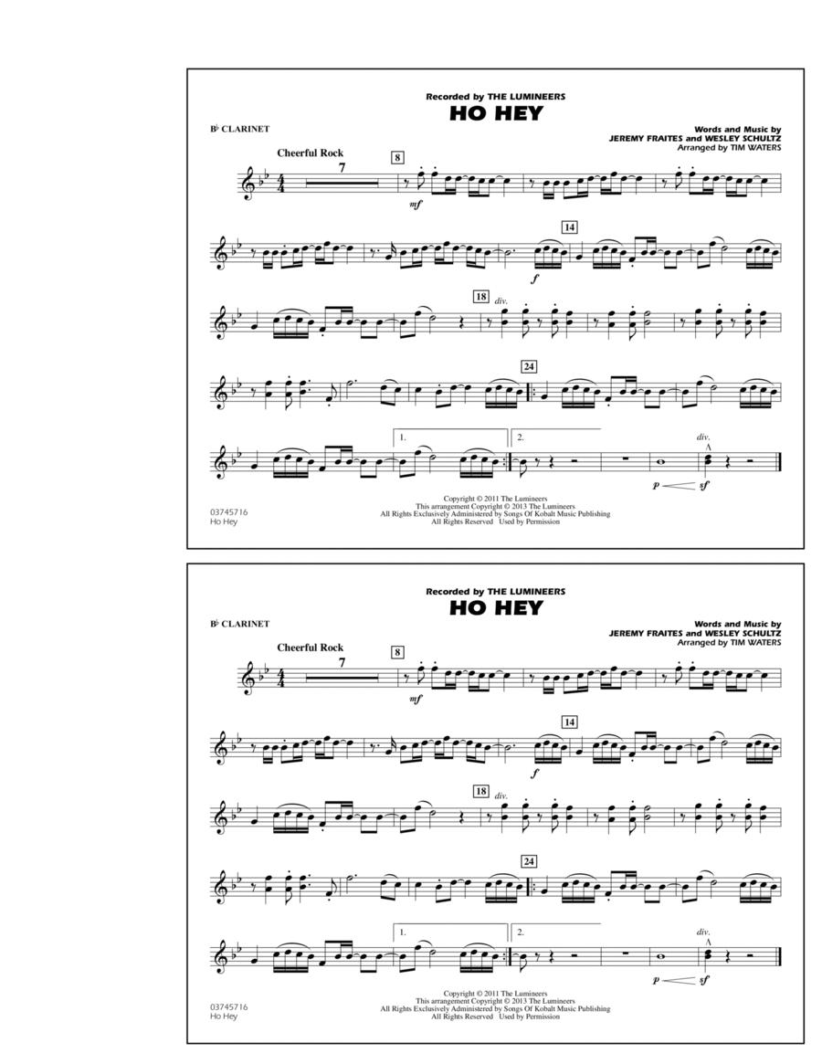 Ho Hey - Bb Clarinet