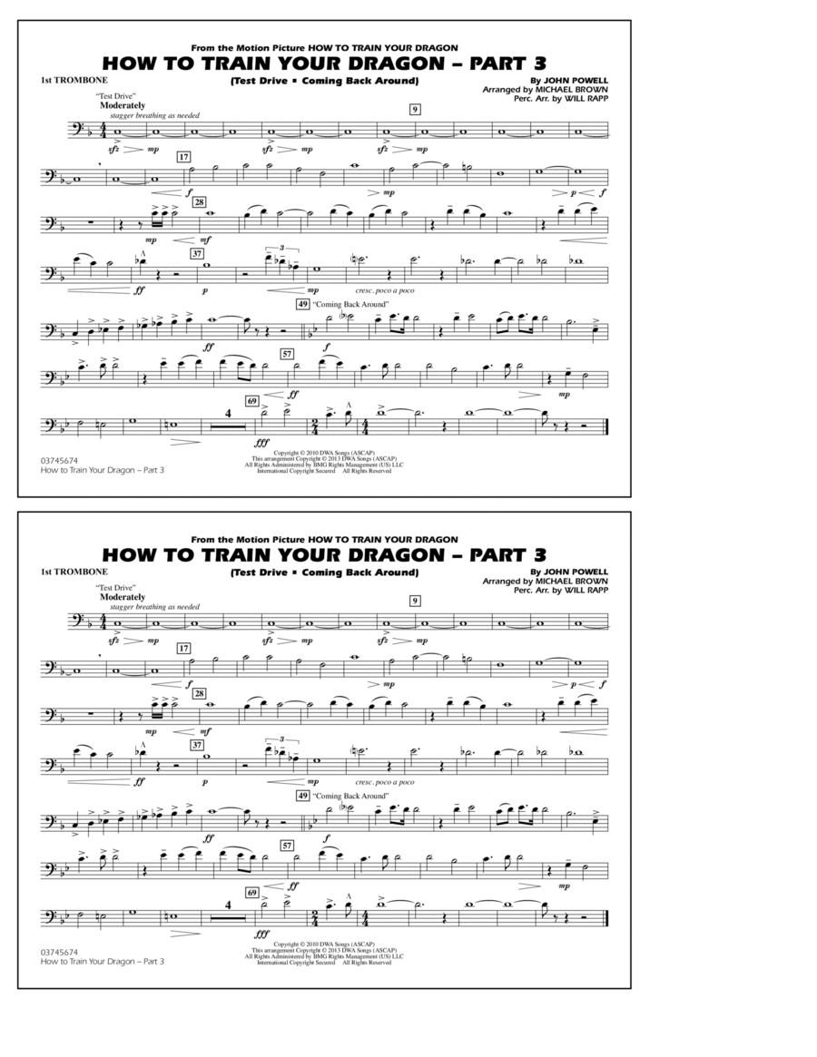 How To Train Your Dragon Part 3 - 1st Trombone