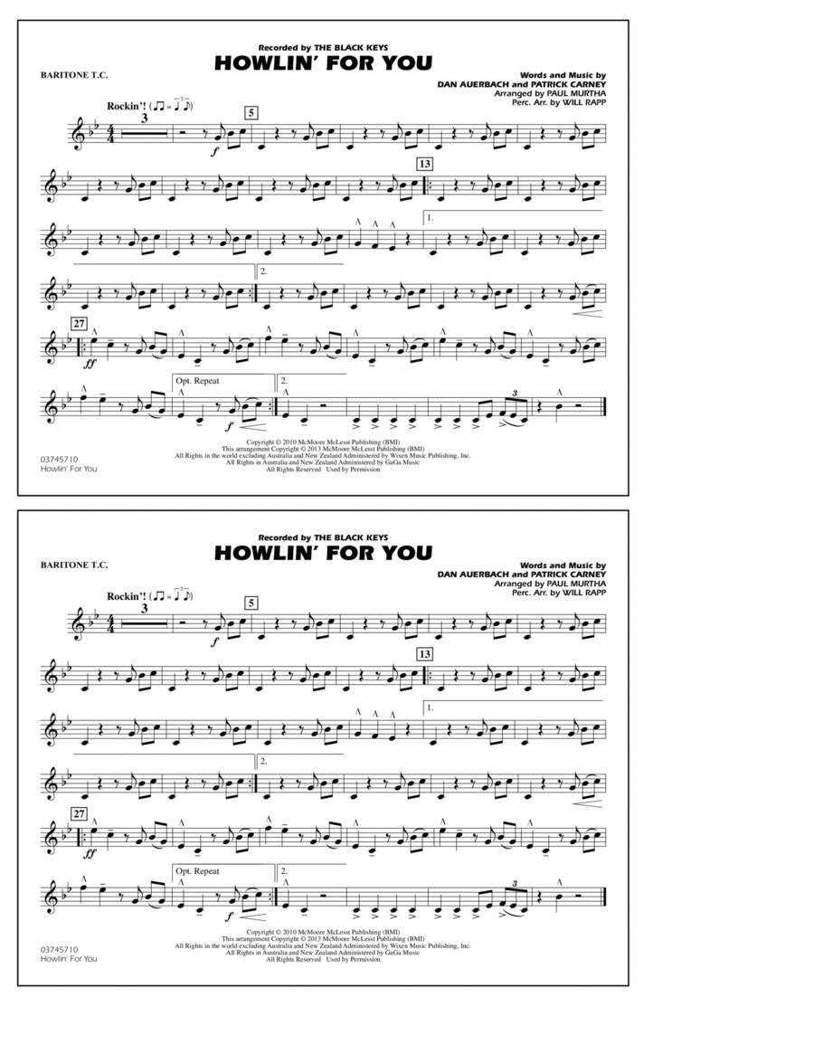 Howlin' For You - Baritone T.C.