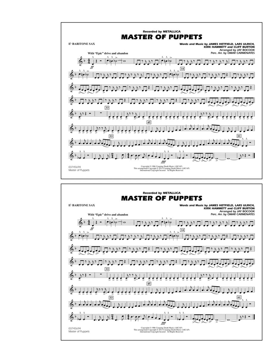 Master of Puppets - Eb Baritone Sax