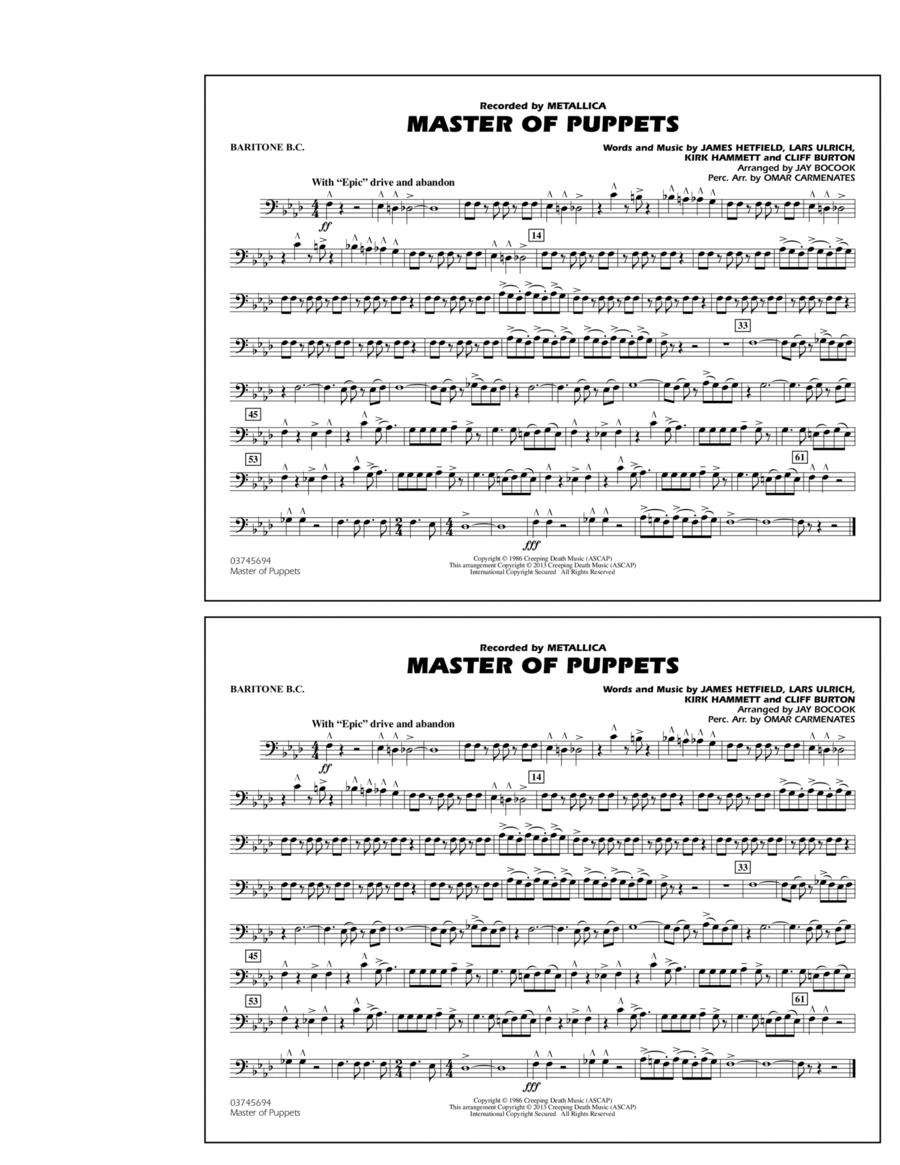 Master of Puppets - Baritone B.C.