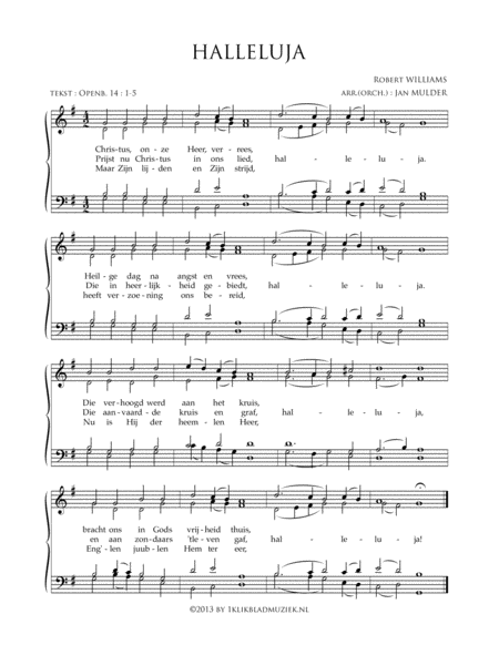 Halleluja - Christus Onze Heer Verrees - Mixed Choir And Piano Or Organ