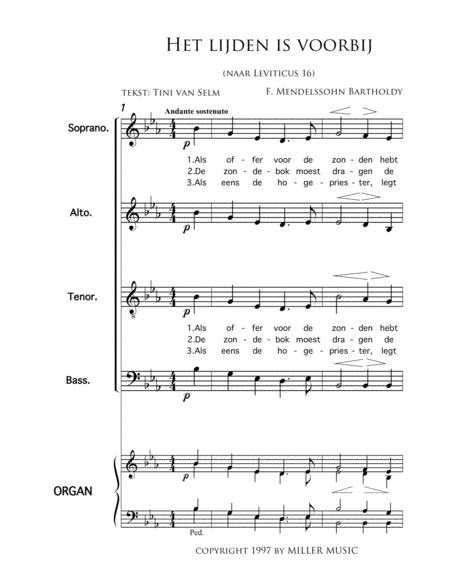 Het Lijden Is Voorbij - Mixed Choir And Piano Or Organ