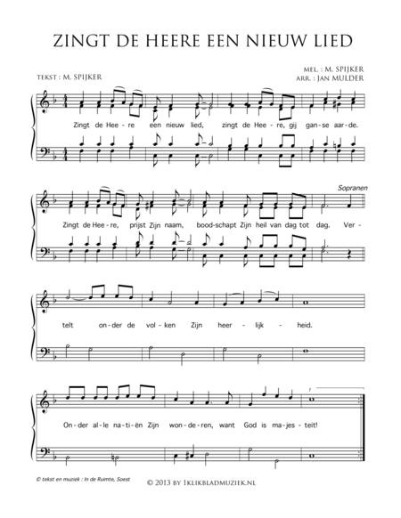 Zingt De Here Een Nieuw Lied - Mixed Choir