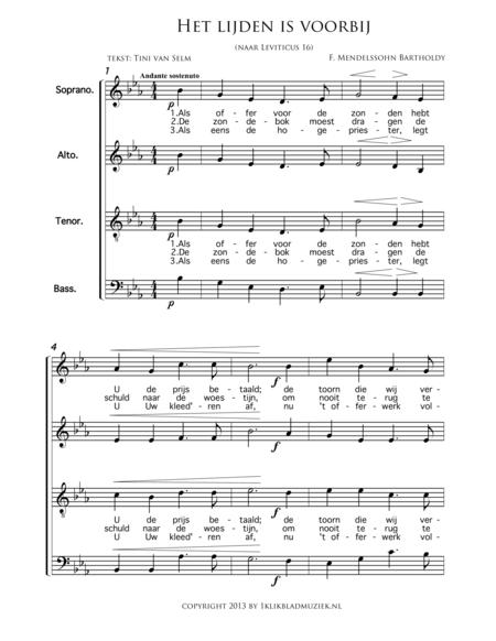 Het Lijden Is Voorbij - Mixed Choir
