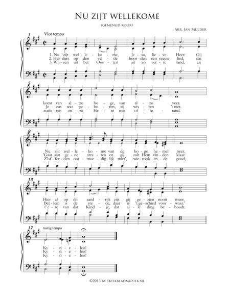 Nu Zijt Wellekome - Mixed Choir And Piano Or Organ