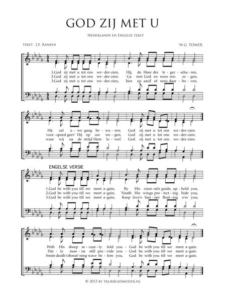 God Zij Met U - Mixed Choir And Piano Or Organ