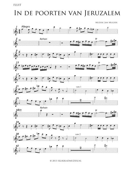 In De Poorten Van Jeruzalem - Flute (Accompaniment For Mixed Choir)