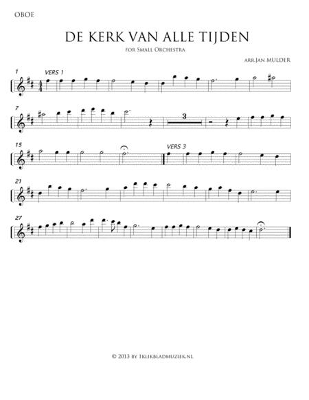 De Kerk Van Alle Tijden - Oboe (Accompaniment For Mixed Choir)