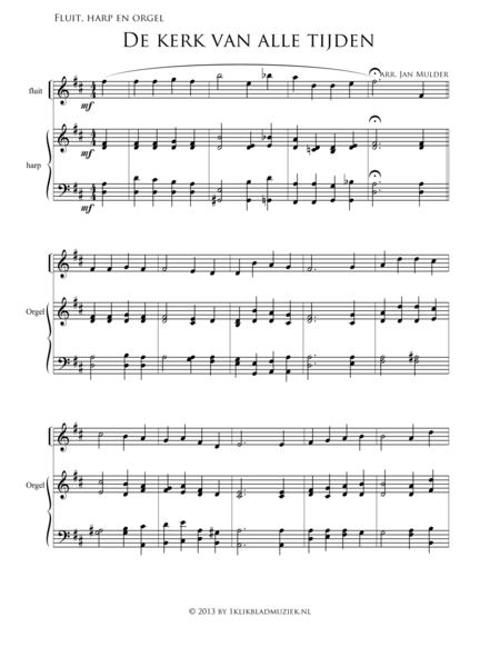 De Kerk Van Alle Tijden - Flute,Organ, Harp (Accompaniment For Mixed Choir)