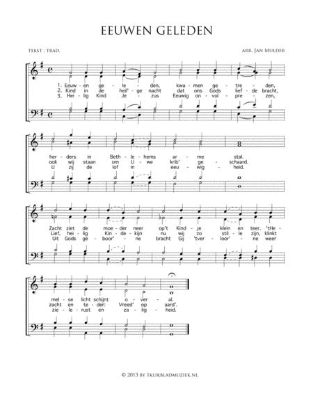Eeuwen Geleden - Mixed Choir, Piano, Organ