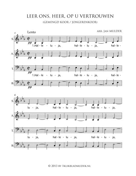 Leer Ons, Heer, Op U Vertrouwen - Mixed Choir