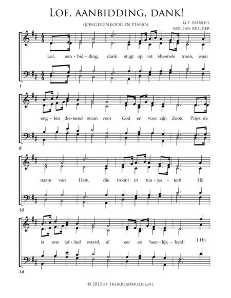 Lof, Aanbidding, Dank - Mixed Choir And Piano Or Organ