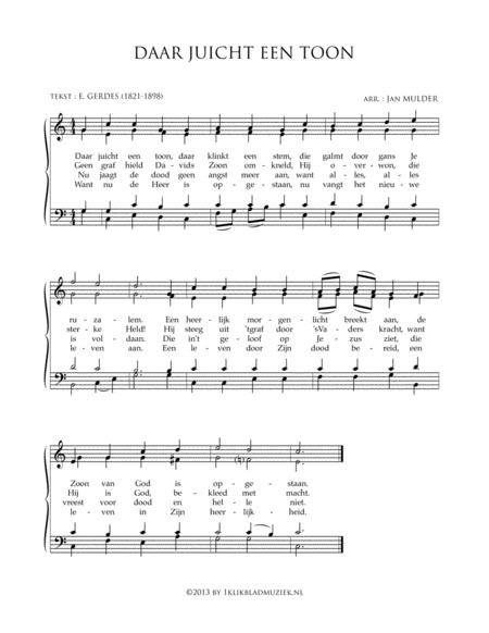 Daar Juicht Een Toon - Mixed Choir And Piano Or Organ