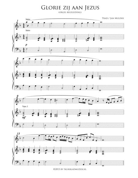Glorie Zij Aan Jezus - Organ (Accompaniment For Mixed Choir)