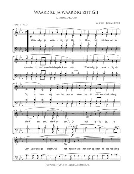 Waardig, Ja Waardig Zijt Gij - Mixed Choir