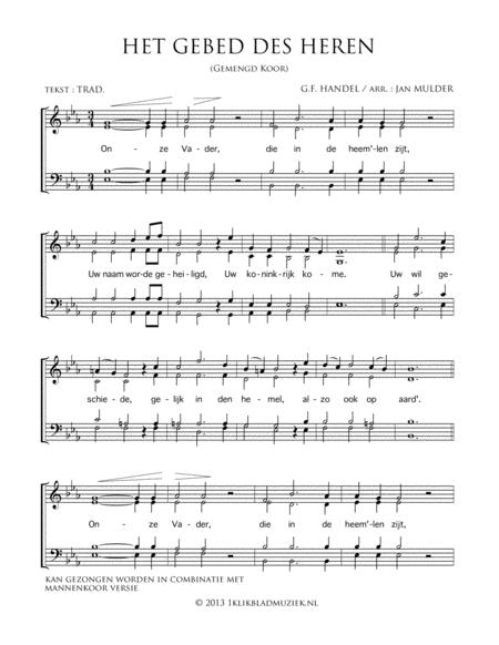Het Gebed Des Heren - Mixed Choir