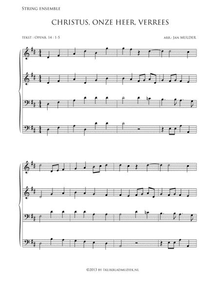 Christus Onze Heer Verrees - Halleluja - Mixed Choir