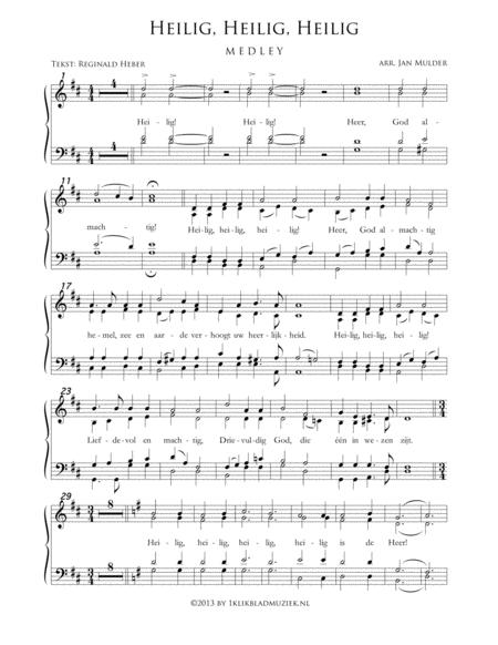 Heilig, Heilig, Heilig - Medley - Mixed Choir And Piano Or Organ