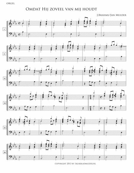 Omdat Hij Zoveel Van Mij Houdt- Flute / (Accompaniment For Mixed Choir)