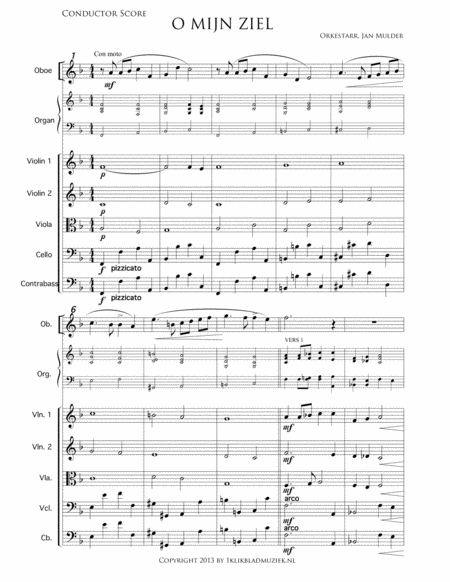 O Mijn Ziel, Houdt Goede Moed - Piano/Organ, Oboe, String Ensemble (Accompaniment For Mixed Choir)
