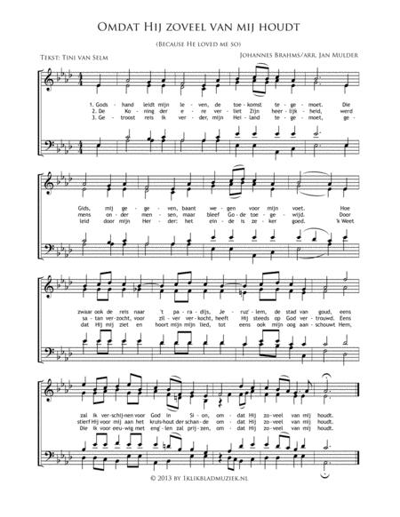Omdat Hij Zoveel Van Mij Houdt - Mixed Choir And Piano Or Organ