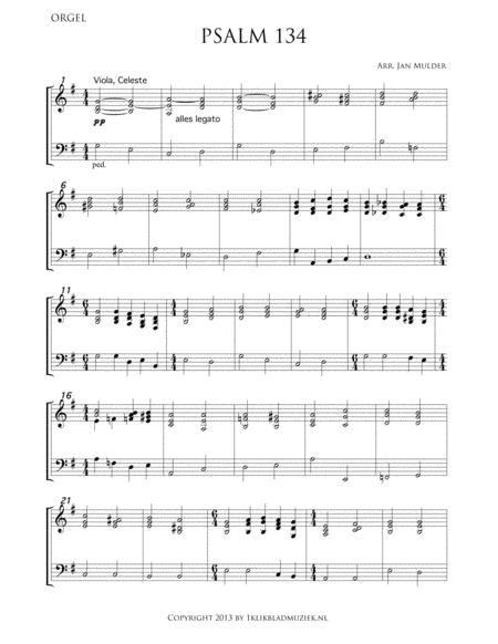 Psalm 134 - Organ (Accompaniment For Choir)