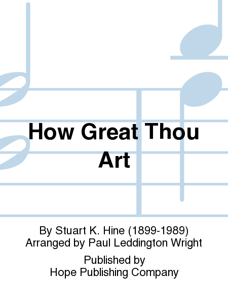 How great thou art stuart hine 1955 sheet music folder 525 by how ...