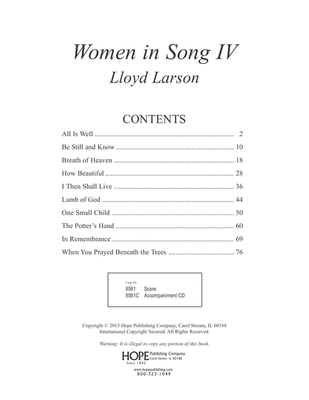 Women in Song IV
