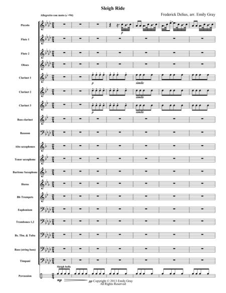 Sleigh Ride (Full Score)