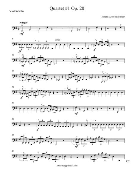 Quartet #1 Op. 20