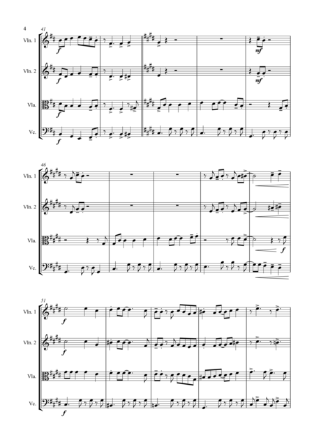 Johnny Swings On Home (When Johnny Comes Marching Home) - for String Quartet