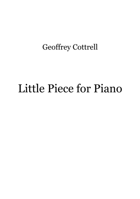 Little Piece for Piano