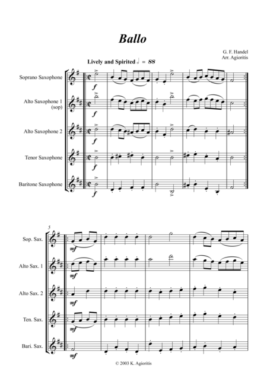 Ballo - for Saxophone Quartet