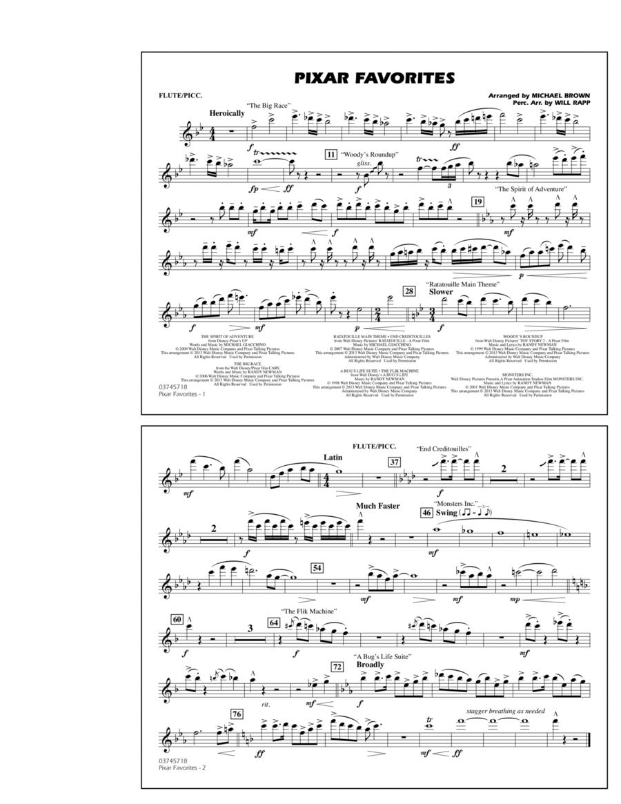 Pixar Favorites - Flute/Piccolo