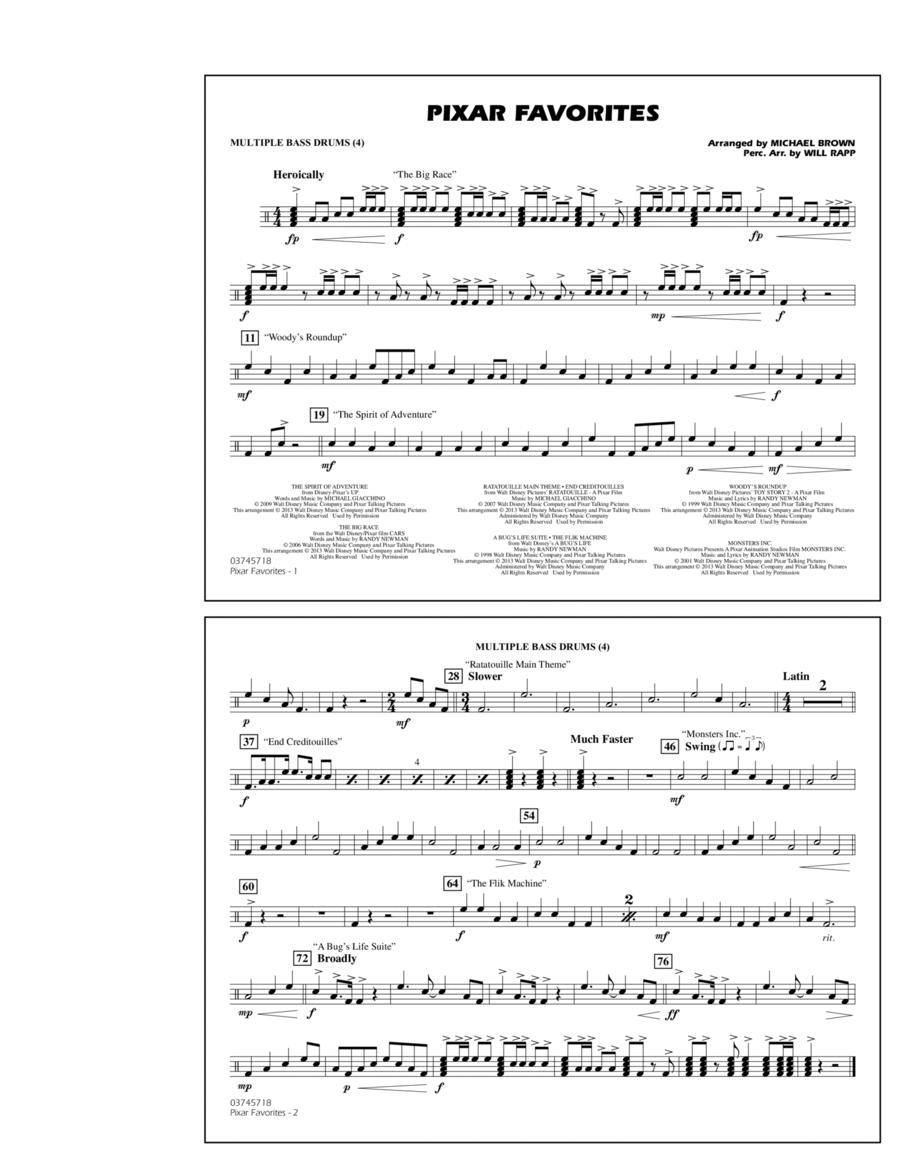 Pixar Favorites - Multiple Bass Drums