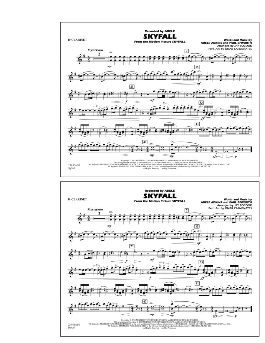 Skyfall - Bb Clarinet