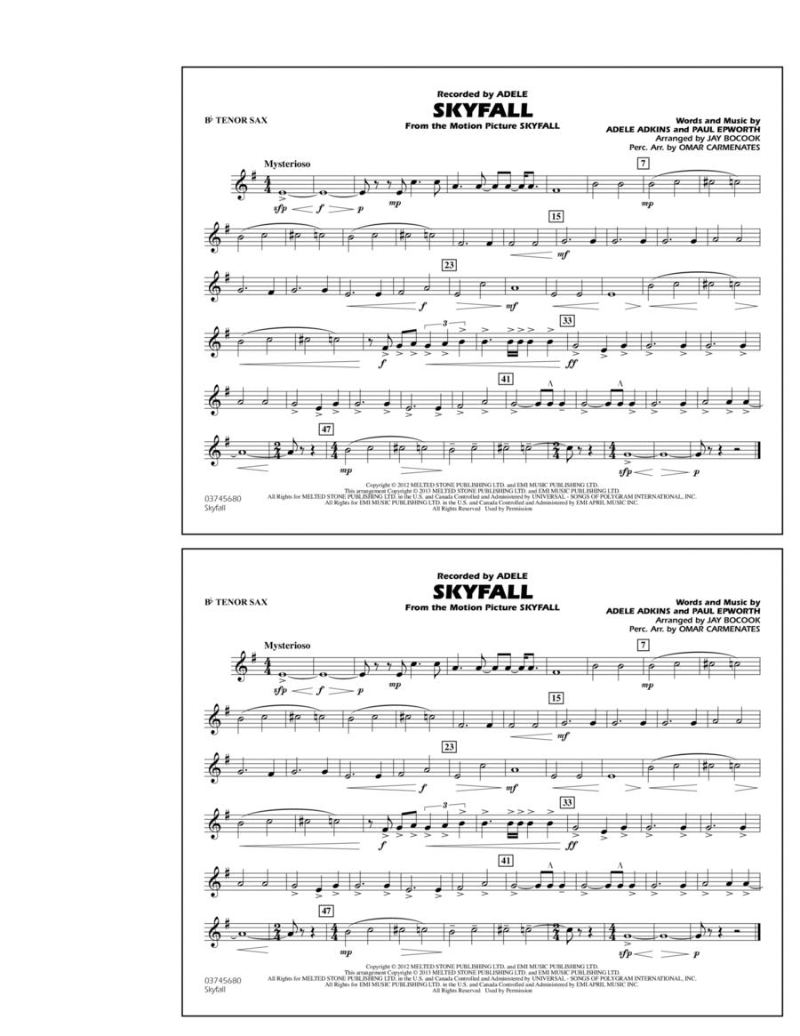 Skyfall - Bb Tenor Sax