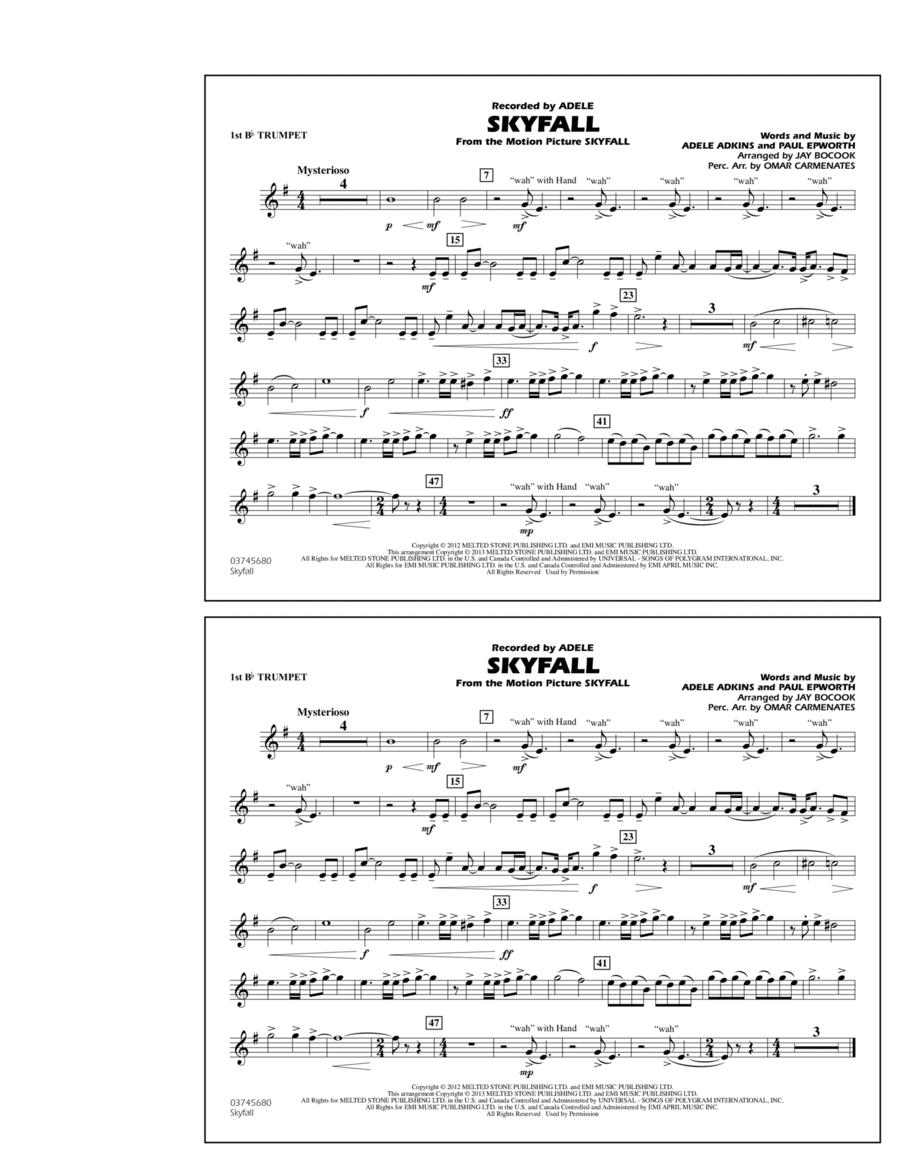 Skyfall - 1st Bb Trumpet